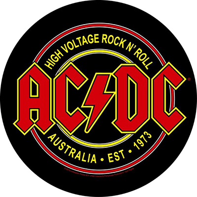 High Voltage Rock N' Roll - BACKPATCH