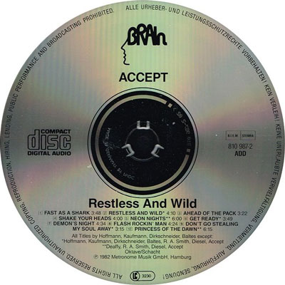 Restless And Wild CD