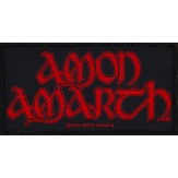 AMON AMARTH red logo - PATCH