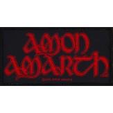 AMON AMARTH red logo - PATCH