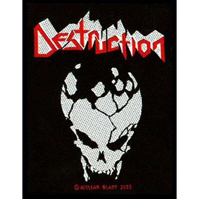 DESTRUCTION logo / skull - PATCH