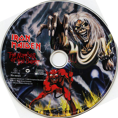 ledo takas records iron maiden the number of the beast cd