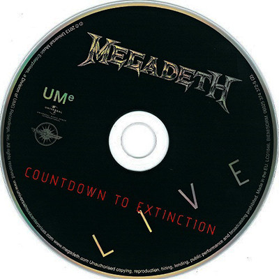 ledo takas records megadeth countdown to extinction